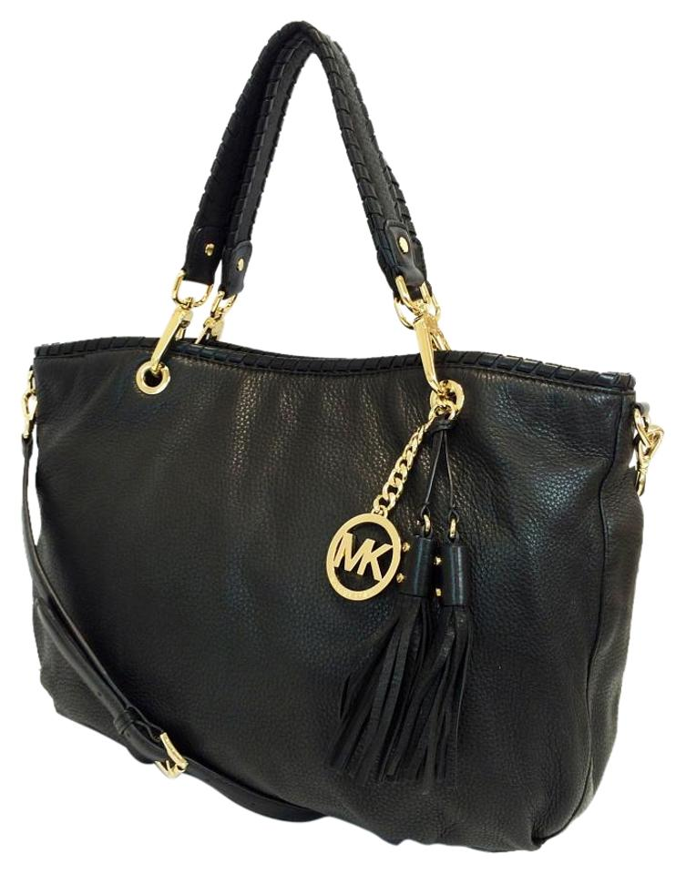 44a6720109bd Michael Kors Bennet Large Leather Tote in Black Image 0 ...