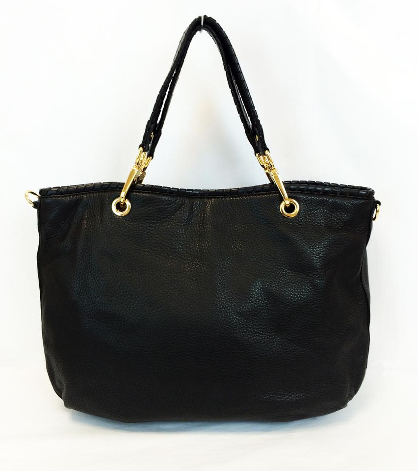 9a17463cc37a5d Michael Kors Bennet Large Leather Tote in Black Image 11. 123456789101112