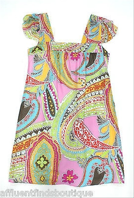 Etro short dress Multi-Color Pink Cotton Shift Or on Tradesy