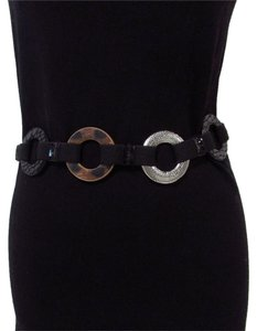 Chico's Silver Animal Print Ring Chain Belt