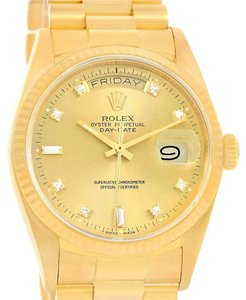 Rolex Rolex President Day-Date 18k Yellow Gold Diamond Dial Watch 18038
