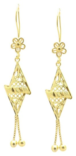 Preload https://img-static.tradesy.com/item/20113194/18kt-gold-filled-floral-abstract-triangle-drop-earrings-0-1-540-540.jpg