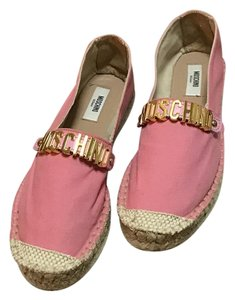 Moschino Canvas Rosa Flats