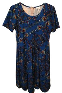 LuLaRoe short dress Royal blue background with pattern on Tradesy