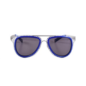 Louis Vuitton CAGE SUNGLASSES BLUE SILVER AVIATOR ADDICTION EVIDENCE MILLIONAIRE