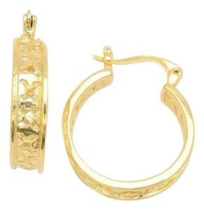 Other 18KT Gold Filled Openwork Mid Size Hoop Earrings