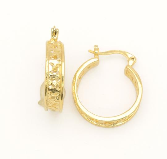 Other 18KT Gold Filled Openwork Mid Size Hoop Earrings Image 1