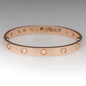 Cartier Cartier Love Bracelet Rose Gold with 10 Diamonds Size 16