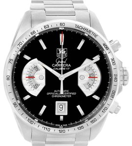 Rolex Tag Heuer Grand Carrera Black Dial Automatic Mens Watch CAV511A