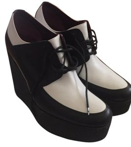Celine by Champion Black and White Wedges