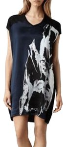 AllSaints short dress Ink/Nude All Sweater Silk Wool on Tradesy