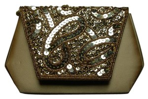Other Sequined Gold Clutch