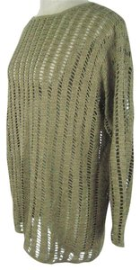 Ellen Tracy Sz M Silk Open Weave Knit Sweater