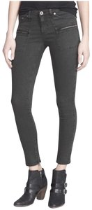 AG Adriano Goldschmied Distressed Crop Edgy Zipper Skinny Jeans-Distressed