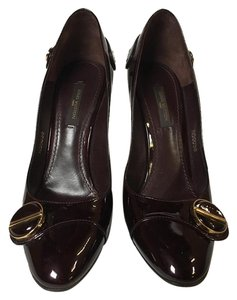 Louis Vuitton Wine Patent Classic Burgandy Pumps
