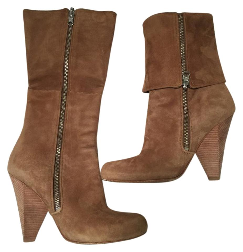 Sigerson Morrison Boots/Booties Camel Leather Zip Boot/Bootie Boots/Booties Morrison 5ade17