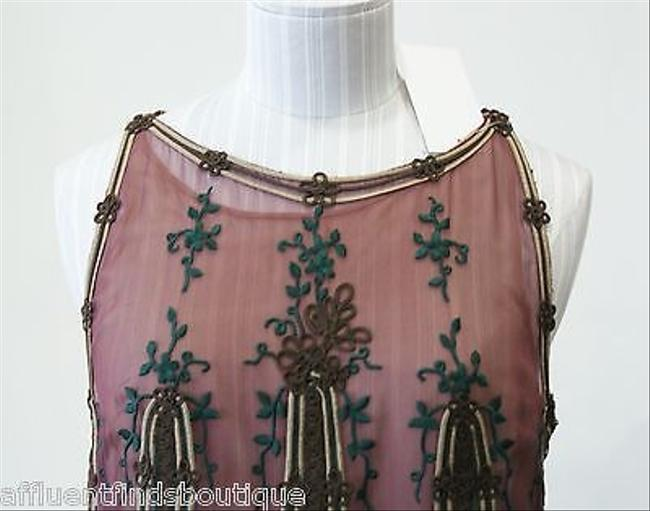 Valentino Boutique Embroidered Silk Chiffon Pc Top Skirt Purple, Wine, Emerald Green