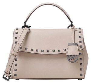 Michael Kors Ava Stud Satchel in Cement