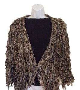 INC International Concepts Neutral Fringed Statement Warm Sweater