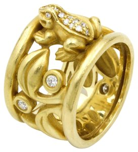 Barry Kieselstein-Cord Barry Kieselstein-Cord Frog Ring with Diamonds in 18k Yellow Gold