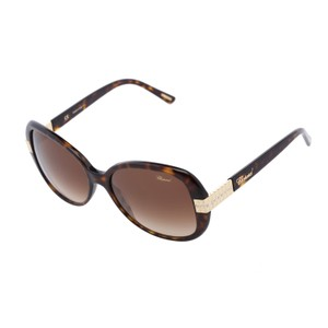 Chopard New Chopard SCH-110 722 Brown Havana Ice Cube Crystals Sunglasses