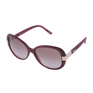 Chopard NEW SCH 110 AMR Marble Burgundy Red Round Swarovski Sunglasses