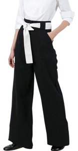 Each x Other Wide Leg Pants Black and White