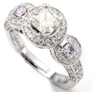 Gabriel & Co. Gia Certified .73ct Brilliant Cushion Diamond Halo