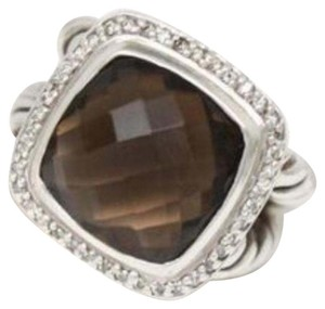 David Yurman David Yurman Albion Ring with Smoky Quartz and Diamonds