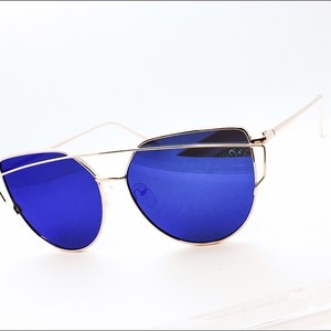 Miami cat Miami Cat Eye mirrored rose gold blue sunglasses