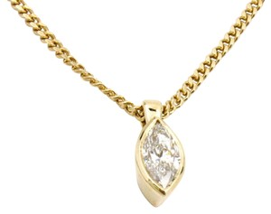 .55CT Marquise Diamond Solitaire Pendant on Chain 14k Solid