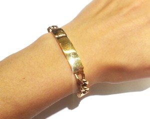 Tiffany & Co. Tiffany & Co Vintage Heavy 14K Yellow Gold ID Bracelet 8