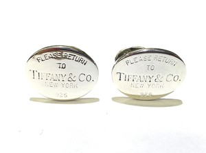 Tiffany & Co. Please Return To Tiffany & Co Cuff Links Sterling Silver