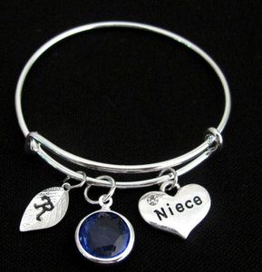 Fashion Jewelry For Everyone Silver Niece Gift Niece Niece Charm Niece Bangle Bracelet