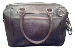 Rebecca Minkoff Mab Leather Morning After Satchel in Purple