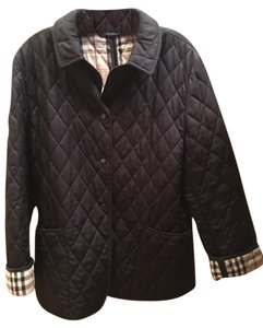 Burberry London Quilted Patch Pockets Black Jacket