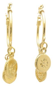 Other 18KT Gold Filled Charm Round Hoop Earrings