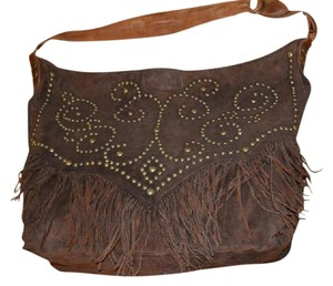Double D Ranchwear Suede Leather Large Artisan Tote in brown