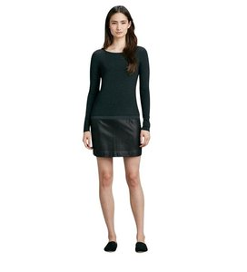 Theory short dress Black Leather Trim Long Sleeve on Tradesy