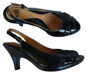 Söfft Patent Leather Slingbacks Heels Black Pumps