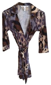 Diane von Furstenberg Dvf Wrap Animal Print Leopard Cheetah Dress