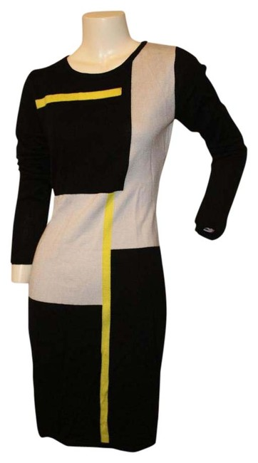 Item - Color Block Above Knee Short Casual Dress Size 6 (S)