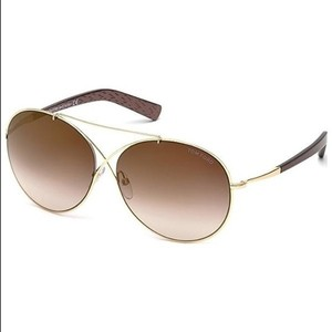 Tom Ford NEW Tom Ford Round TF394 Iva 28F Rose Gold/ Brown