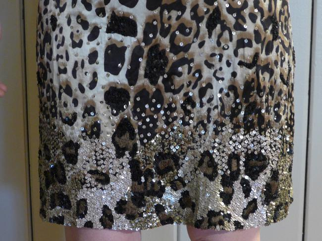 Pinko Silk Print Drapped Crystal Swarovski Dress Image 4