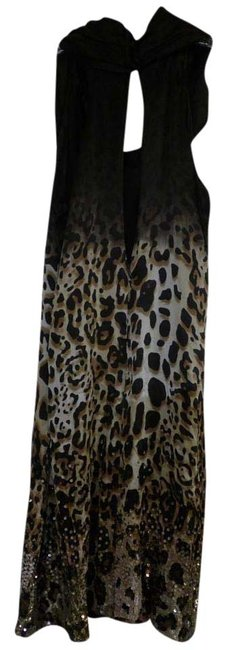 Pinko Silk Print Drapped Crystal Swarovski Dress Image 5