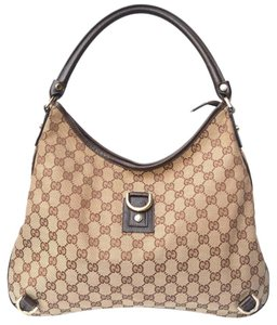 Gucci Hobo Monogram Brown Shoulder Bag
