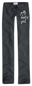 Gilly Hicks NWT GILLY HICKS ABERCROMBIE & FITCH GREY SKINNY GIRL LOGO SWEATPANTS L