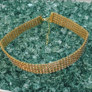 Glam Glam studded Choker rose gold color