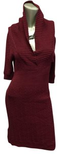 BCBGMAXAZRIA short dress Burgundy on Tradesy