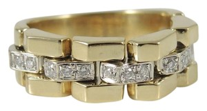 Chimento Chimento 18K Yellow Gold .15tcw Diamond Double Classic Link Ring